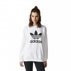 Bluza adidas White Trefoil Sweat BP9498