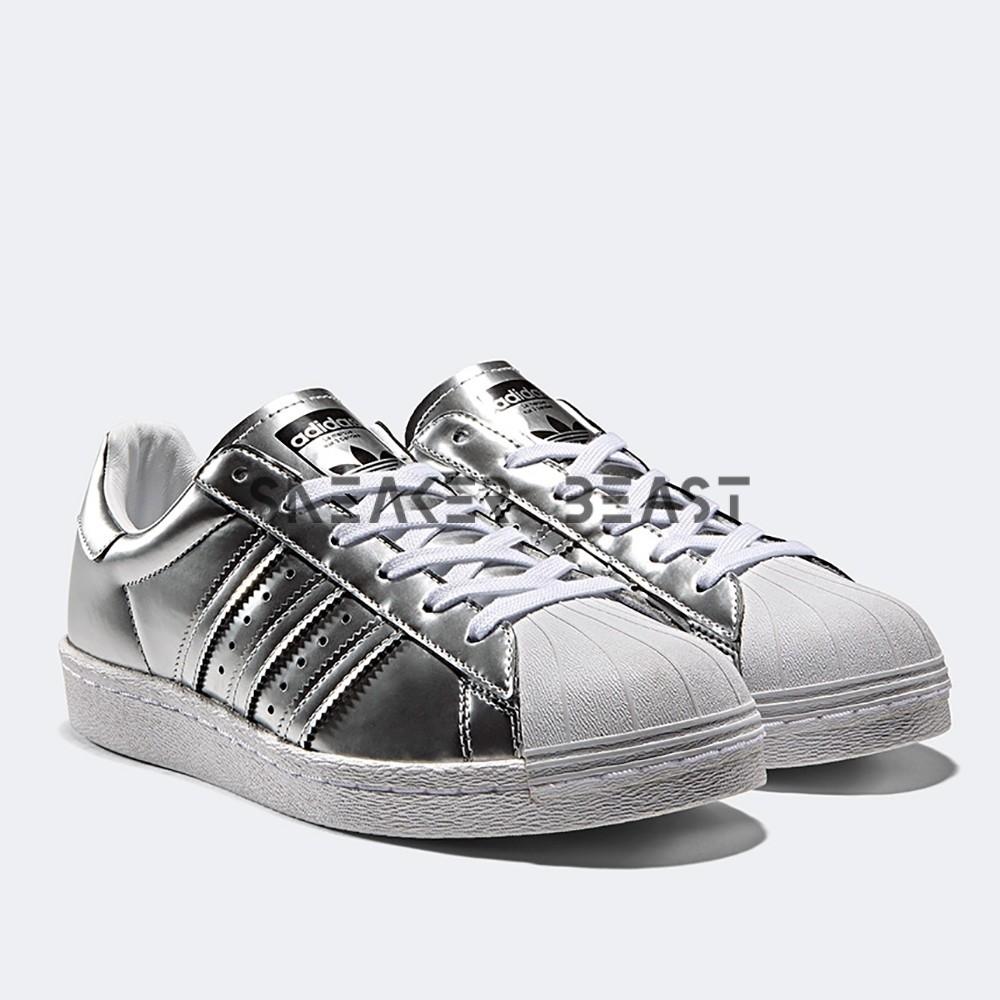 adidas superstar boost women silver metallic