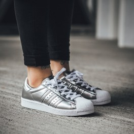 "Buty adidas Superstar Boost Women ""Silver Metallic"""
