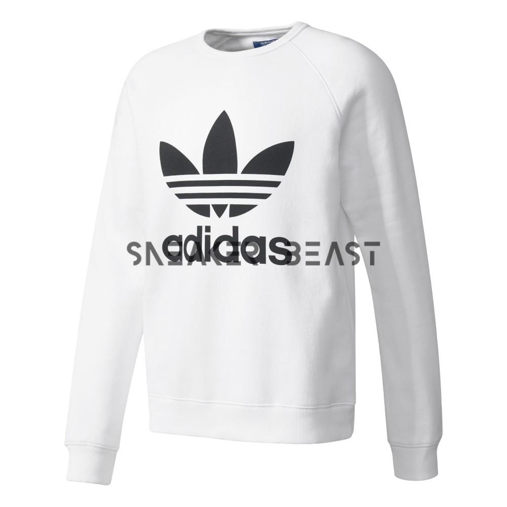 znana marka 100% jakości pierwsza stawka Bluza adidas Trefoil Crew White AY7794