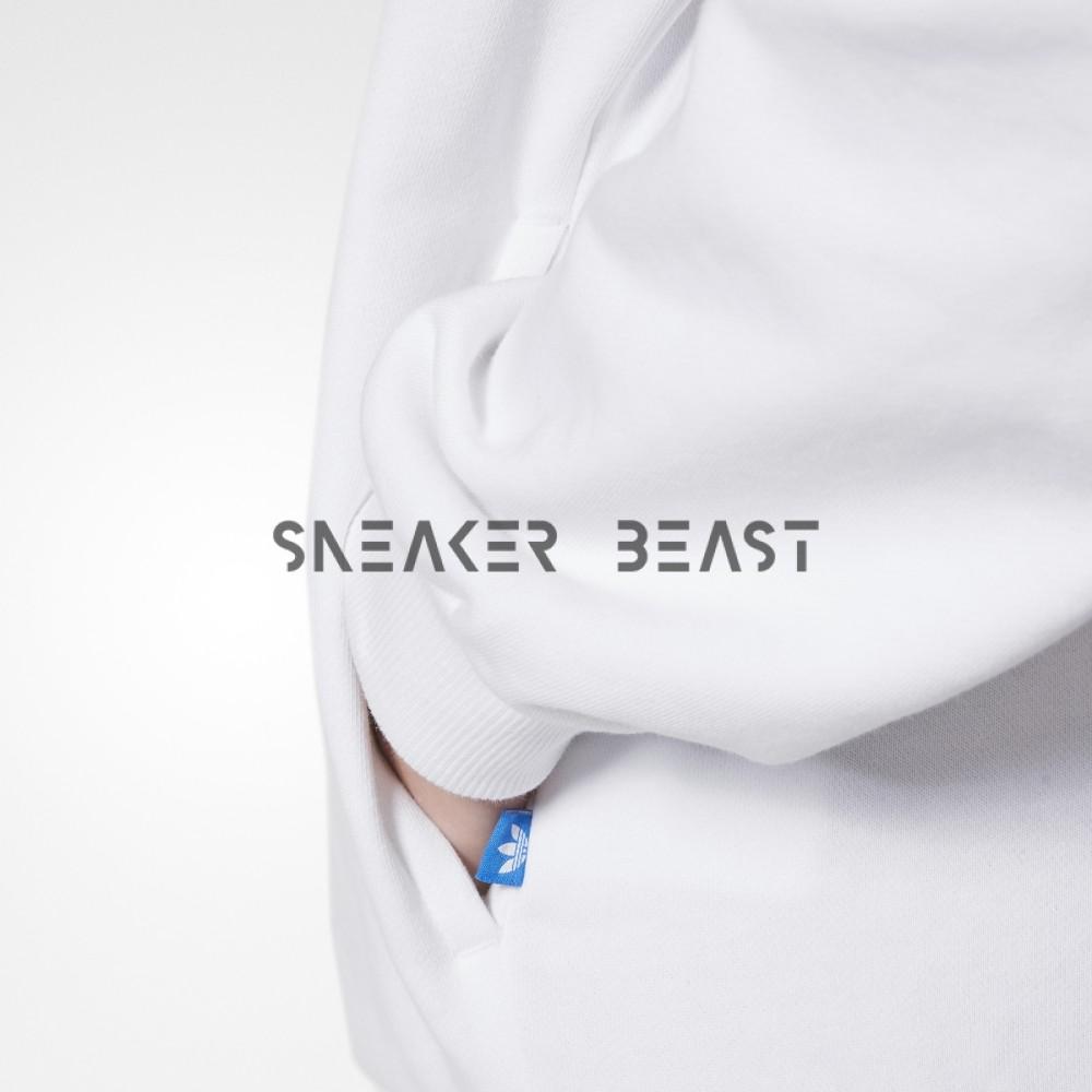 Bluza adidas White Trefoil Sweat BP9498